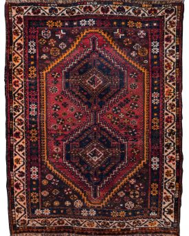 Shiraz Tribal Vintage Hand Made Rug 4 by 5