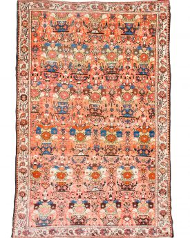 Beautiful 4 by 6 vintage seneh bib-khatoon hand made area rug