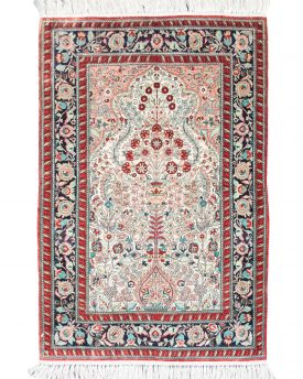 Persian Garden Silk Hand Made Area Rug 2 by 3' 1""
