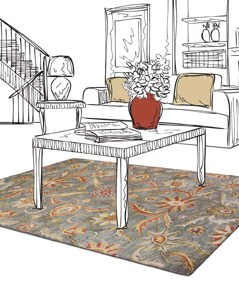 Jaunty Mansions Collection - Hand Tufted Rugs