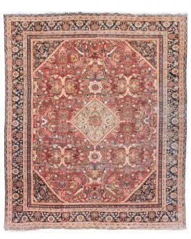 10 by 12 antique rug vintage persian iran rug
